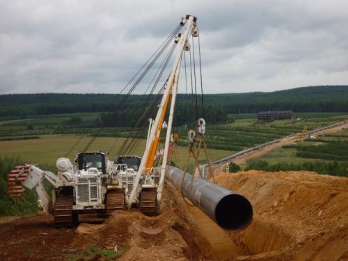 pokládání plynovodu Gazella